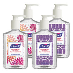 **OUT OF STOCK** Advanced Hand Sanitizer Refreshing Gel, Clean Scent, 8 oz Pump Bottle 4/Pack