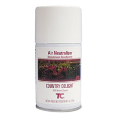 Rubbermaid® Commercial TC Microburst Air Neutralizer Refill, Country Delight, 6 oz, 12/Carton