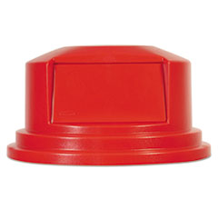 "Rubbermaid® Commercial Round BRUTE Dome Top Lid for 55 gal Waste Containers, 27.25"" diameter, Red"