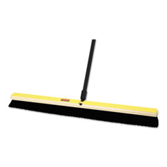 "Rubbermaid® Commercial Tampico-Bristle Medium Floor Sweep, 36"" Brush, 3"" Bristles, Black"