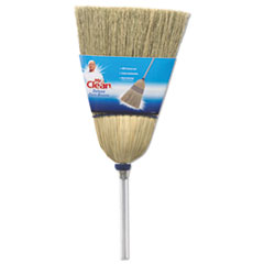 """Mr. Clean® Deluxe Corn Broom, 17"""" Bristles, 55"""", Wood Handle, White"""