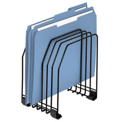 """Fellowes® Wire Organizer, 7 Sections, Letter to Legal Size Files, 7.38"""" x 5.88"""" x 8.25"""", Black"""