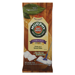 Murphy® Oil Soap Soft Wipe, Cloth, 8 x 11, White, 18/Pack