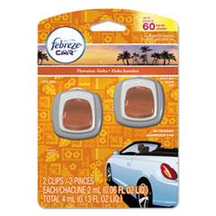 Febreze® CAR Air Freshener, Hawaiian Aloha, 2 ml Clip, 2/Pack, 8 Pk/Carton