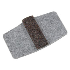 Wrap Around Felt Floor Savers, 7 1/4 x 1 x 8, Gray/Black, 16/Pack