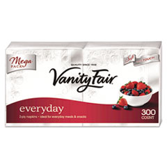 Vanity Fair® Vanity Fair Everyday Dinner Napkins, 2-Ply, White, 300/Pack