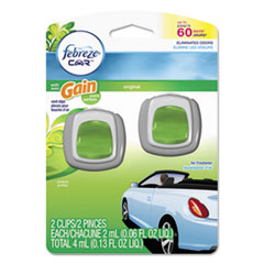 Febreze® CAR Air Freshener, Gain Original, 2 ml Clip, 2/Pack, 8 Pk/Carton