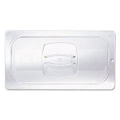 Rubbermaid® Commercial Cold Food Pan Covers, 1/2-Size, 10.38 x 12.8, Clear