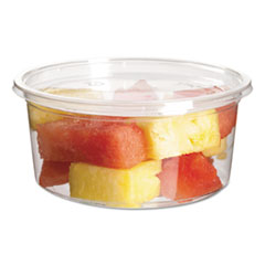 Eco-Products® Round Deli Containers, PLA, 12 oz, Clear, 500/Carton