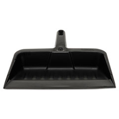 "Rubbermaid® Commercial Heavy-Duty Dustpan, 8 1/4"" w, Polypropylene, Charcoal"