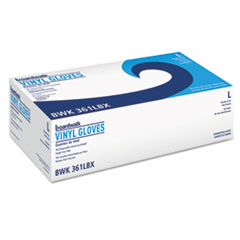 Exam Vinyl Gloves, Powder/Latex-Free, 3 3/5 mil, Clear, Large, 100/Box