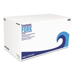 Boardwalk® Heavyweight Polystyrene Cutlery, Fork, White, 1000/Carton