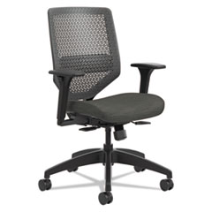 Solve Series ReActiv Back Task Chair, Supports up to 300 lbs., Ink Seat/Charcoal Back, Black Base