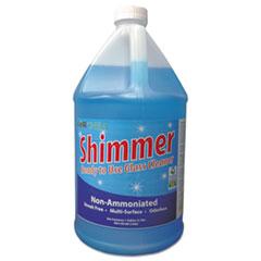 Kor-Chem Shimmer Institutional Non-Ammoniated RTU Glass Cleaner, 1 gal Bottle, 4/Carton