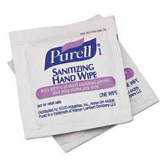 PURELL® Sanitizing Hand Wipes, Individually Wrapped, 4 1/2 x 6 1/2, 1800/Carton