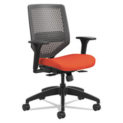 HON® Solve Series ReActiv Back Task Chair, Bittersweet/Charcoal HONSVMR1ACLCO46