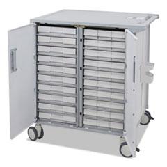 Ergotron® StyleView Transfer Cart, 37 1/2 x 28 x 41 1/4, White/Gray