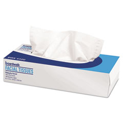Boardwalk® Office Packs Facial Tissue, 2-Ply, White, Flat Box, 100 Sheets/Box, 30 Boxes/Carton