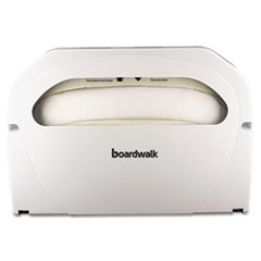 Boardwalk® Toilet Seat Cover Dispenser, 16 x 3 x 11.5, White, 2/Box