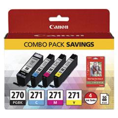 0373C005 (PGI-270/CLI-271) Ink/Paper Combo, Black/Tri-Color