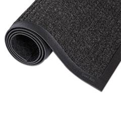 Crown Super-Soaker Wiper Mat w/Gripper Bottom, Polypropylene, 24 x 35, Charcoal