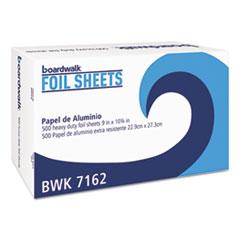 "Boardwalk® Standard Aluminum Foil Pop-Up Sheets, 9"" x 10 3/4"", 500/Box, 6 Boxes/Carton"