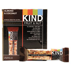 KIND Fruit and Nut Bars, Almond and Coconut, 1.4 oz, 12/Box