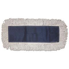 Boardwalk® Disposable Dust Mop Head, Cotton, Cut-End, 60w x 5d