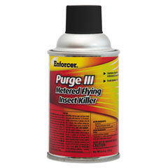 Enforcer® Purge III Metered Flying Insect Killer, 6.4 oz Aerosol, Fresh Scent, 12/Carton