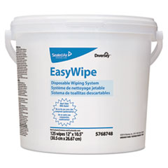 Diversey™ Easywipe Disposable Wiping Refill, 8 5/8 x 24 7/8, White, 125/Bucket, 6/Carton