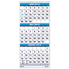 House of Doolittle™ Three-Month Academic Wall Calendar, 8 x 17, 14-Month (June-July) 2016-2017 HOD3645