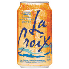 LaCroix® Sparkling Water, Orange Flavor, 12 oz Can, 24/Carton LCX21241