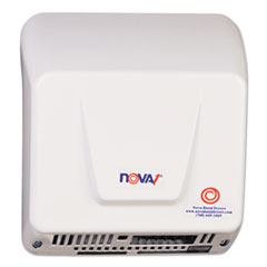 WORLD DRYER® NOVA Hand Dryer, 110-240V, Aluminum, White WRL083000000