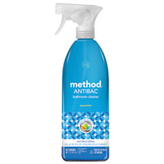 Method® Antibacterial Spray, Bathroom, Spearmint, 28 oz Bottle, 8/Carton