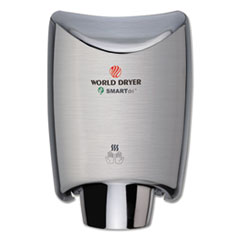 WORLD DRYER® SMARTdri Hand Dryer, Stainless Steel, Brushed