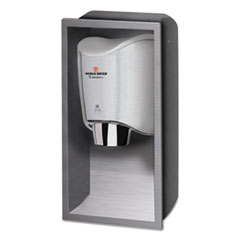 WORLD DRYER® SMARTdri Hand Dryer Recess Kit, 15l x 4w x 25h, Stainless Steel