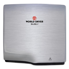 WORLD DRYER® SLIMdri Hand Dryer, Stainless Steel, Brushed WRLL973A