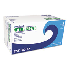 Boardwalk® Disposable General-Purpose Nitrile Gloves, Large, Blue, 4 mil, 1000/Carton