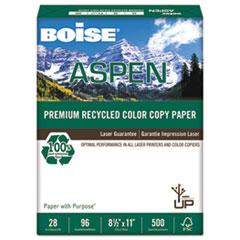 Boise® ASPEN Premium Recycled Paper, 96 Bright, 28lb, Letter, White, 500 Sheets