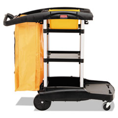 Rubbermaid® Commercial High Capacity Cleaning Cart, 21.75w x 49.75d x 38.38h, Black