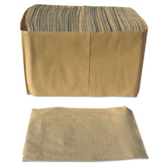 "Paper Source Converting Dispenser Napkins, Paper, 1-Ply, 13"" x 12"", Brown, 6000/Carton"