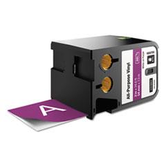 "DYMO® XTL All-Purpose Vinyl Labels, 2"" x 24.6 ft., Purple/White Print DYM1868795"