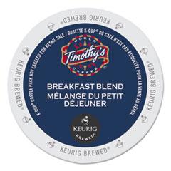 Timothy's World Coffee Breakfast Blend Coffee K-Cups, 24/Box