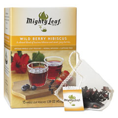 Mighty Leaf® Tea Whole Leaf Tea Pouches, Wild Berry Hibiscus, 15/Box MYT40027