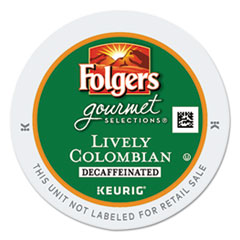 Folgers® Gourmet Selections Lively Colombian Coffee K-Cups, Decaf, 24/Box GMT0570