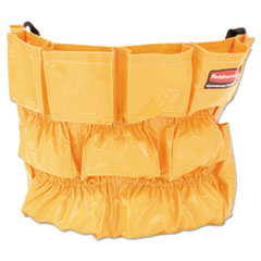 Rubbermaid® Commercial Brute Caddy Bag, 12 Pockets, Yellow