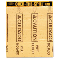 Rubbermaid® Commercial Over-The-Spill Pad Tablet with Medium Spill Pads, Yellow, 22/Pack