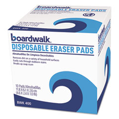 Boardwalk® Disposable Eraser Pads, 10/Box, 16 Boxes/Carton