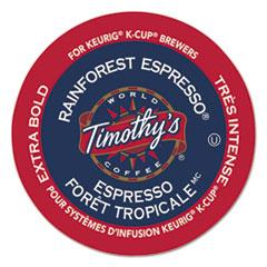 Timothy's World Coffee Rainforest Espresso Coffee K-Cups, 24/Box