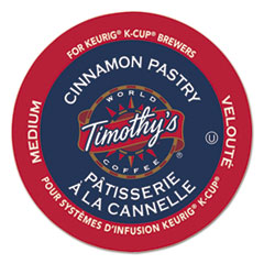 Timothy's World Coffee Cinnamon Pastry Coffee K-Cups, 24/Box